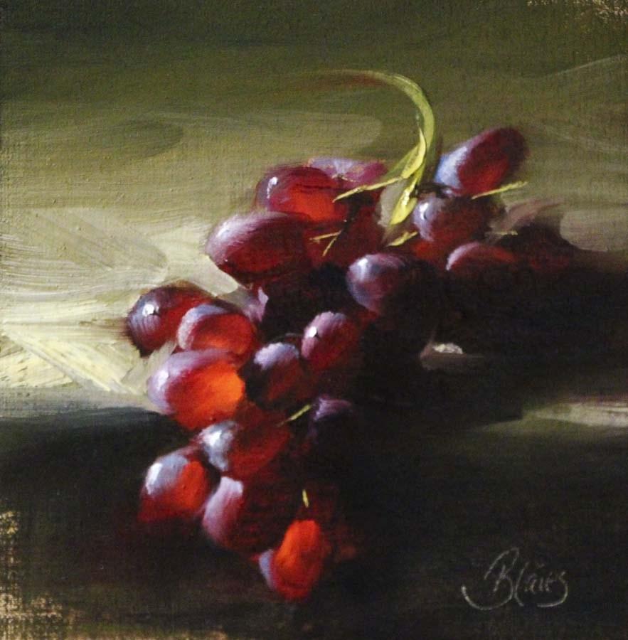 """Red Grapes Aglow"" original fine art by Pamela Blaies"