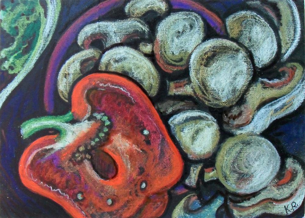 """""""Mushroom Pepper"""" original fine art by Karen Roncari"""