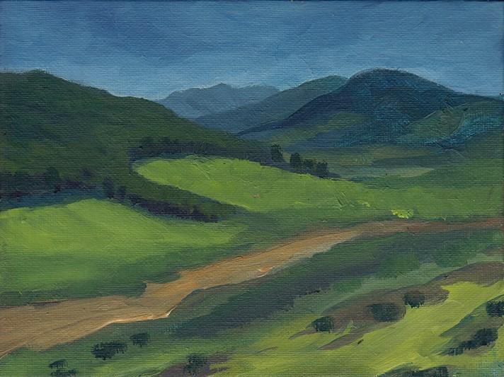 """Near Dufftown, Scotland"" original fine art by J M Needham"