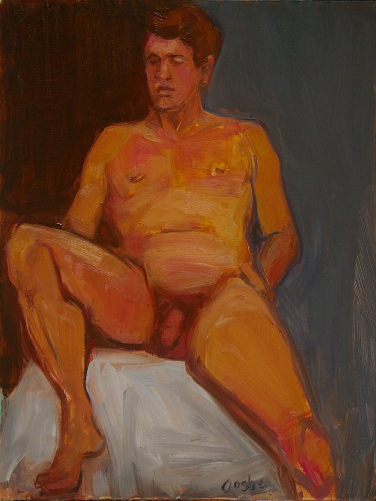 """Nude Male Figure Study"" original fine art by Angela Ooghe"