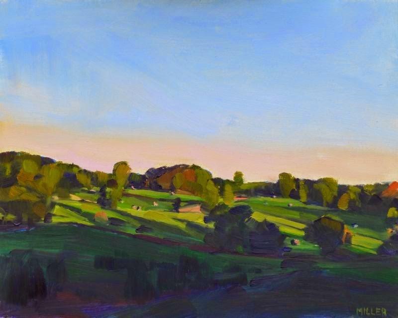 """""""Evening, Late Summer"""" original fine art by Jessica Miller"""