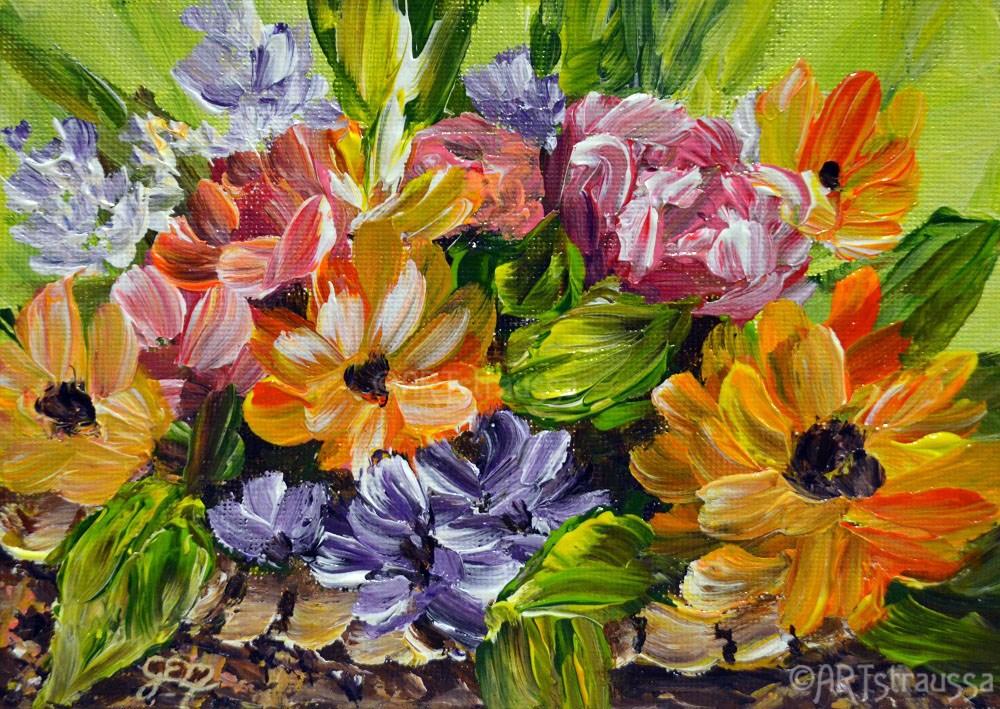 """""""SALE!!!Basketful Of Spring"""" original fine art by Gloria Ester"""