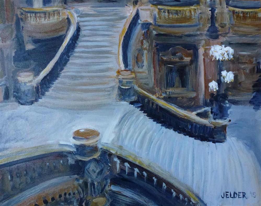 """Grand Staircase, Paris No. 79"" original fine art by Judith Elder"