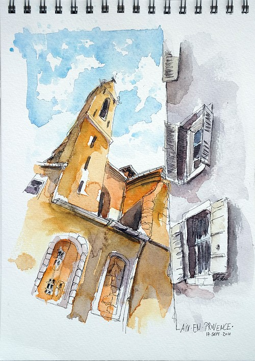 """2583 Èglise du Saint-Esprit"" original fine art by Dietmar Stiller"