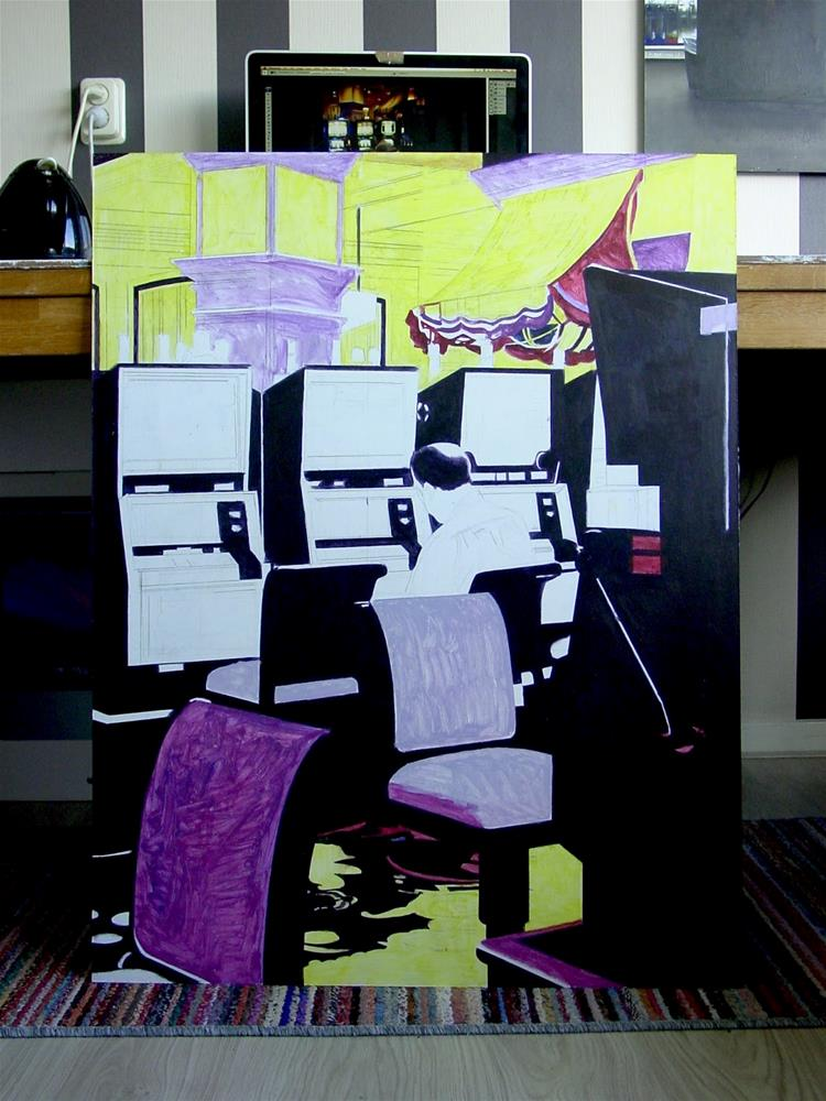 """""""Painting in Progress- Day 3 and 4"""" original fine art by Gerard Boersma"""