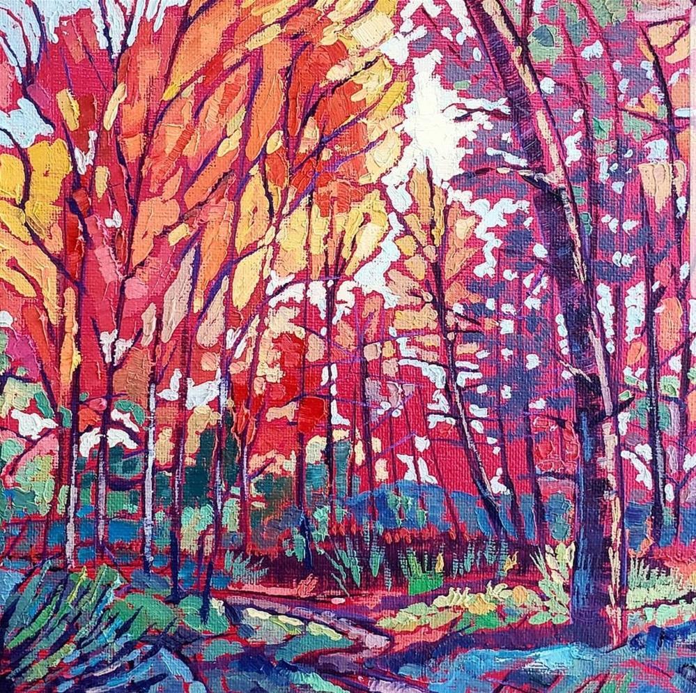 """""""Confetti Forest"""" original fine art by Bhavna Misra"""