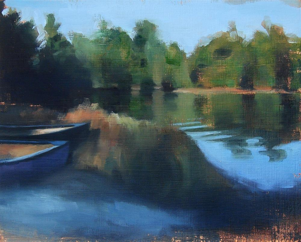 """Commission no.3 (View Into the Cove / Lake Monomonoc, NH)"" original fine art by Michael William"