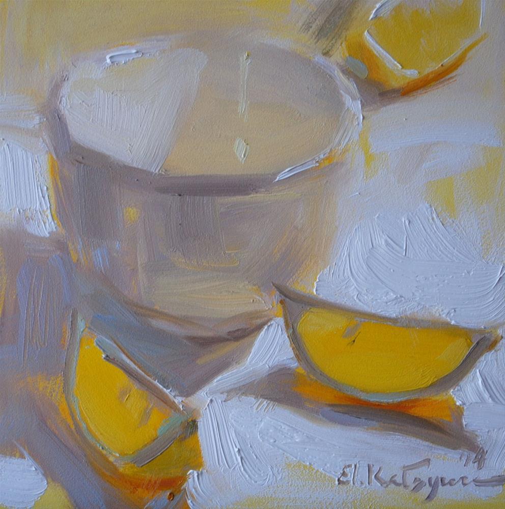 """""""Lemon in the Light"""" original fine art by Elena Katsyura"""