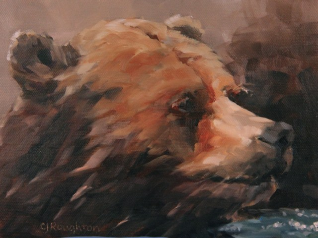 """""""Life Can Be A Bear"""" original fine art by C J Roughton"""