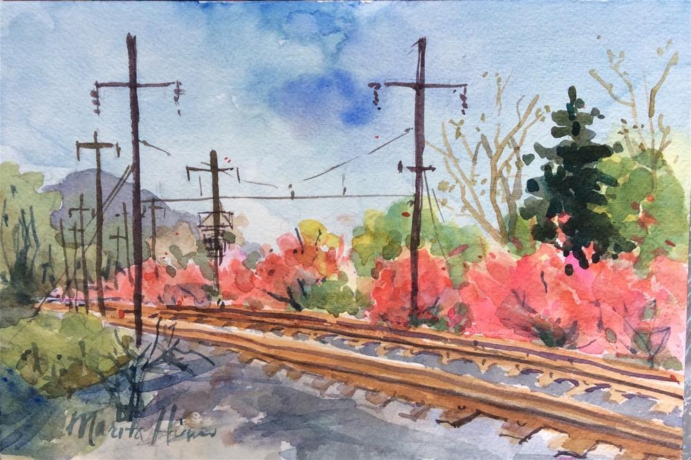 """Along the Tracks"" original fine art by Marita Hines"