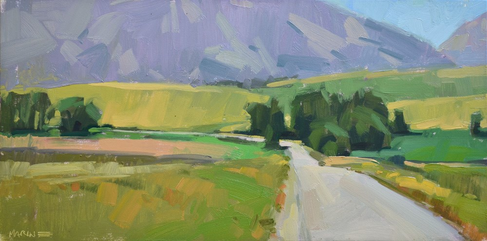 """""""Wallowa Farmland"""" original fine art by Carol Marine"""