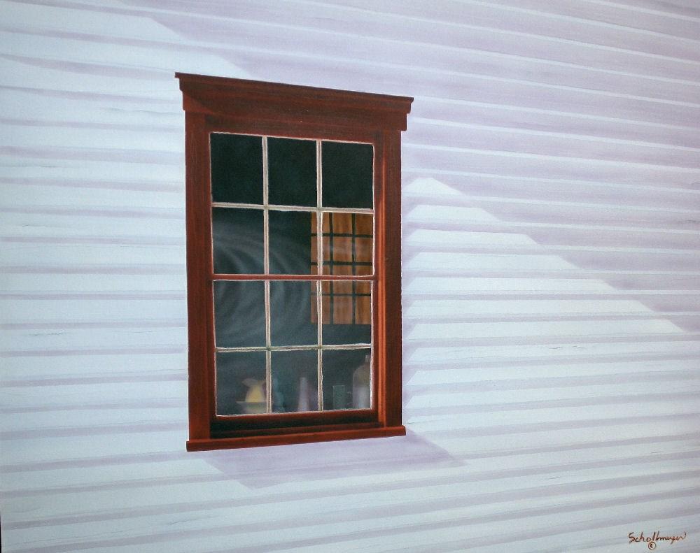 """School House Window"" original fine art by Fred Schollmeyer"