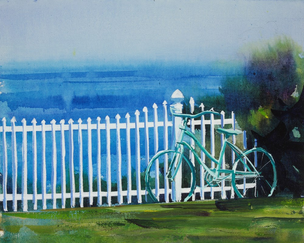 """Vintage Bicycle"" original fine art by Chris Breier"