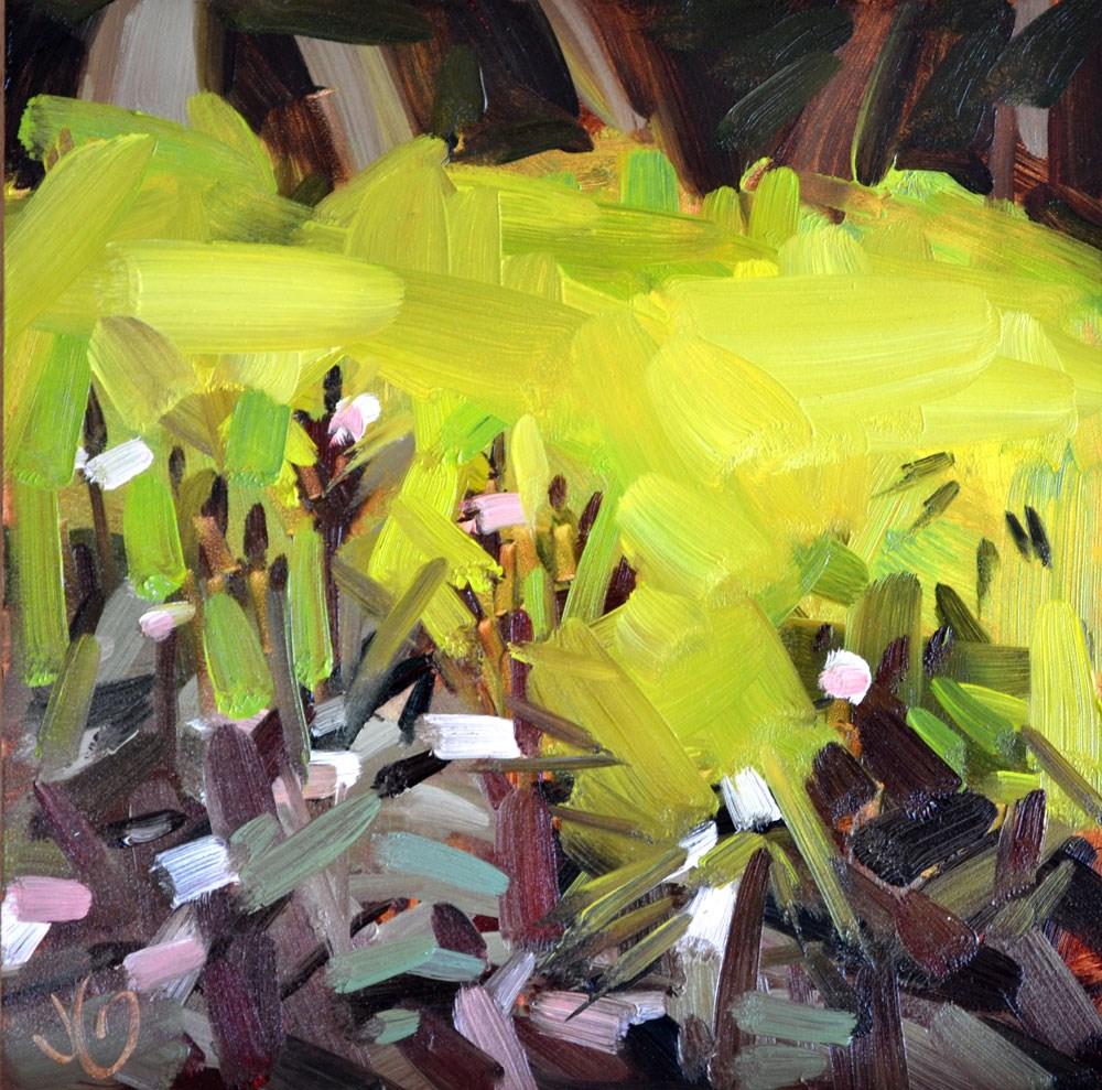 """Gardenscape"" original fine art by Jessica Green"
