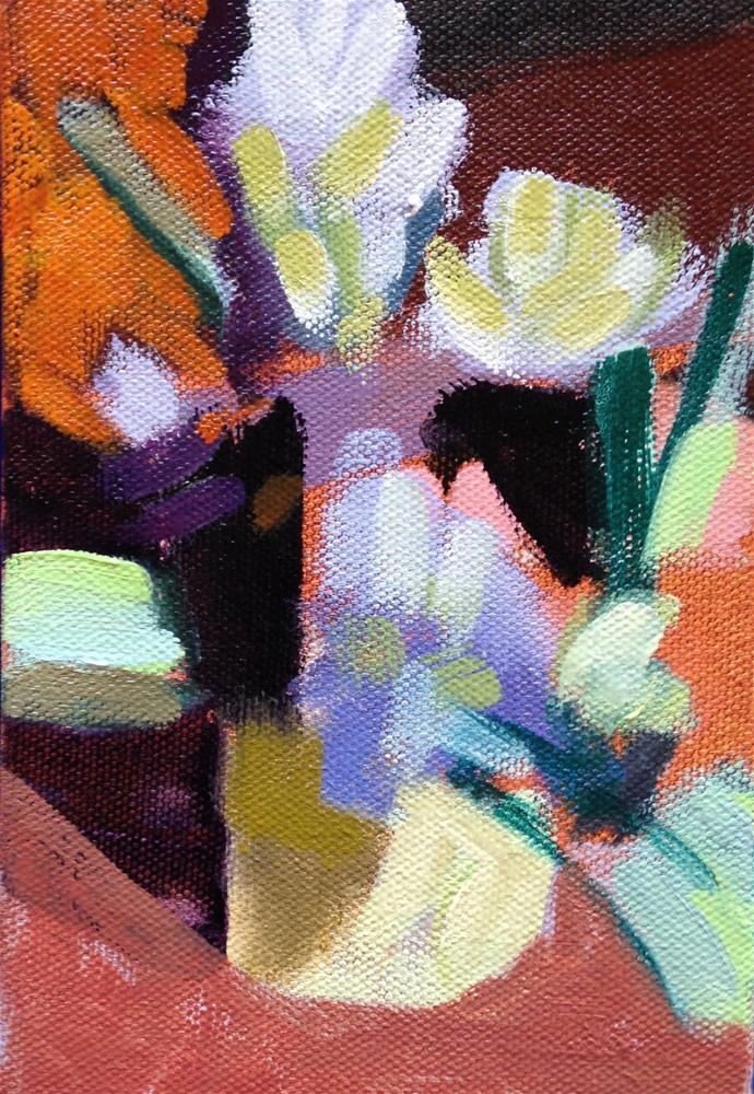 """Purple Hyacinths"" original fine art by Pamela Hoffmeister"