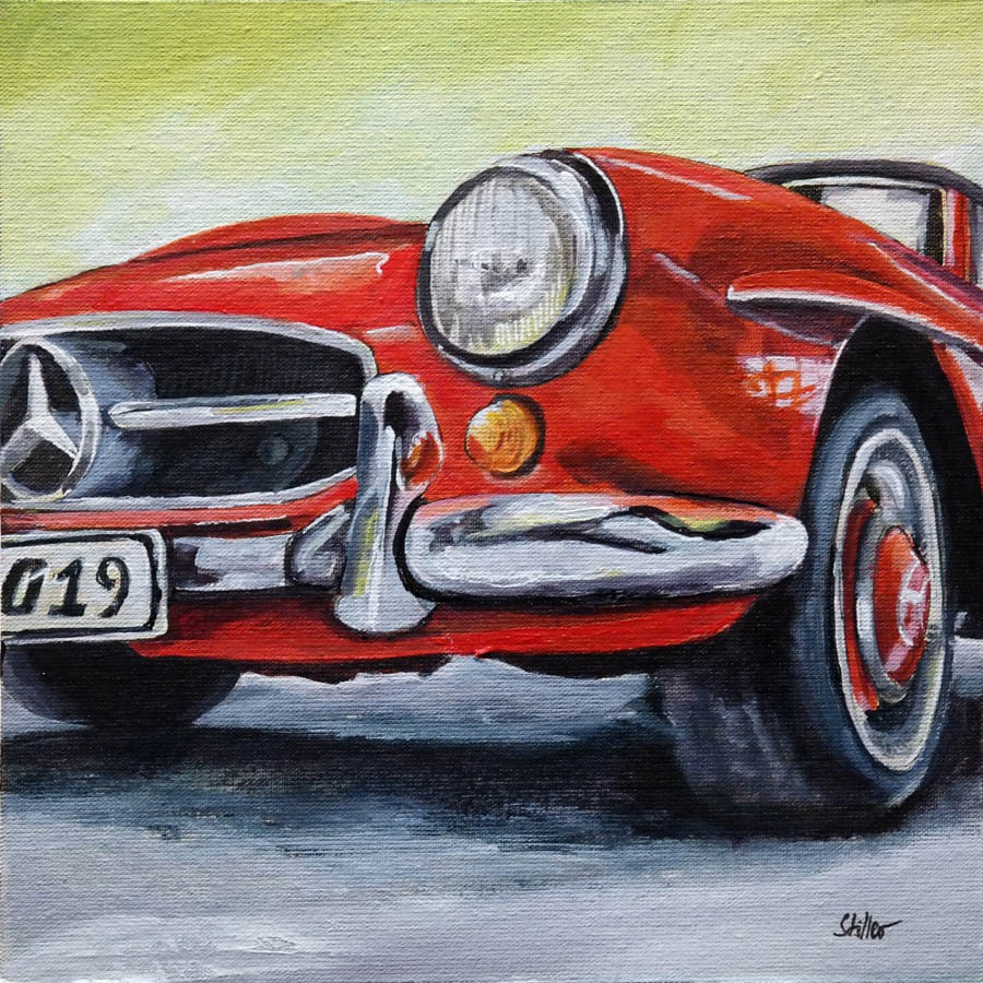 """2691 Mercdes Benz 190 SL"" original fine art by Dietmar Stiller"