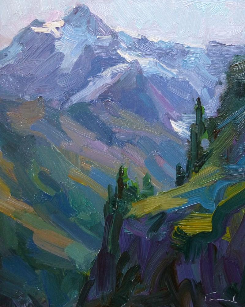 """Mt. Shuksan Morning Light"" original fine art by Kathryn Townsend"