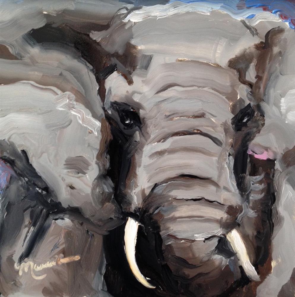 """""""Bama"""" original fine art by Marcia Hodges"""
