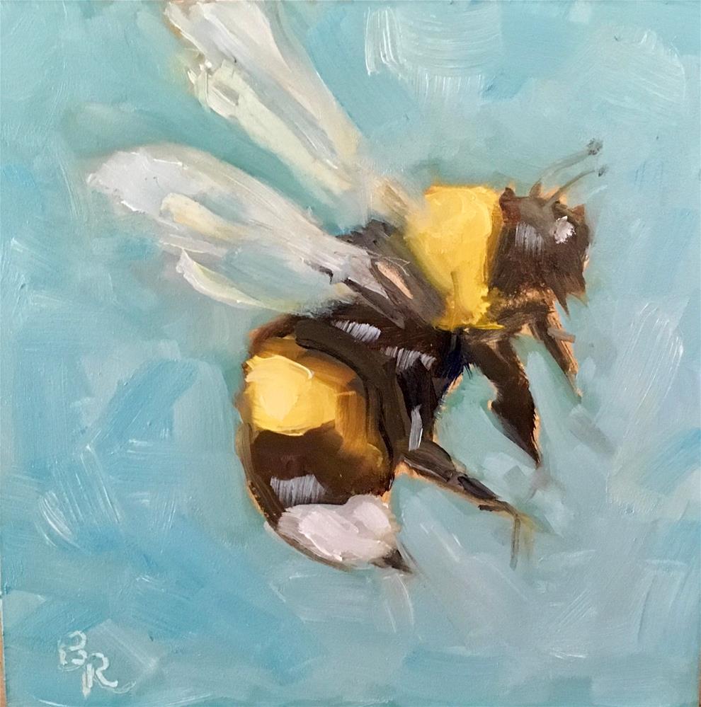 """Bee Bold!"" original fine art by Barbara Ramp"