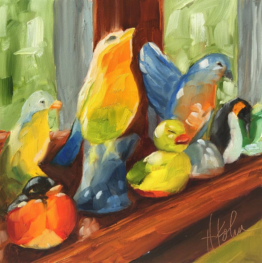 """Birds 2"" original fine art by Hallie Kohn"