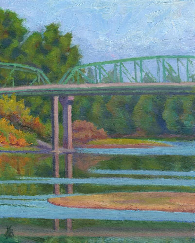 """Takena Landing"" original fine art by Mark Allison"