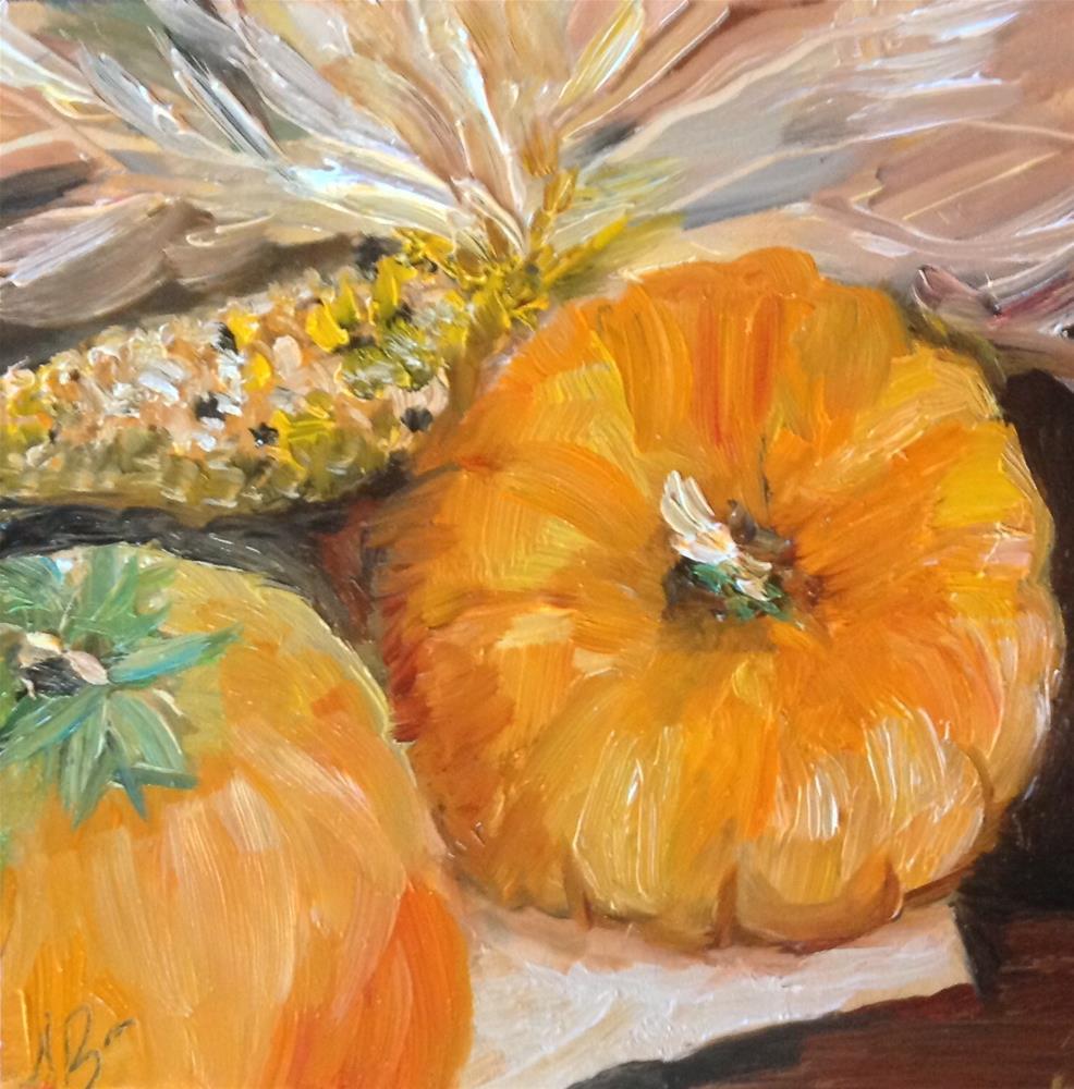 """Fall harvest"" original fine art by Annette Balesteri"