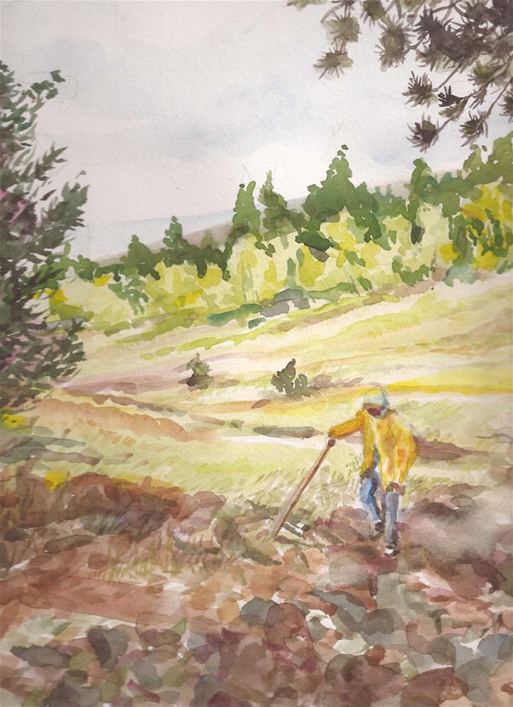 """Alvarado Campground, Westcliffe, CO free shipping"" original fine art by Jean Krueger"