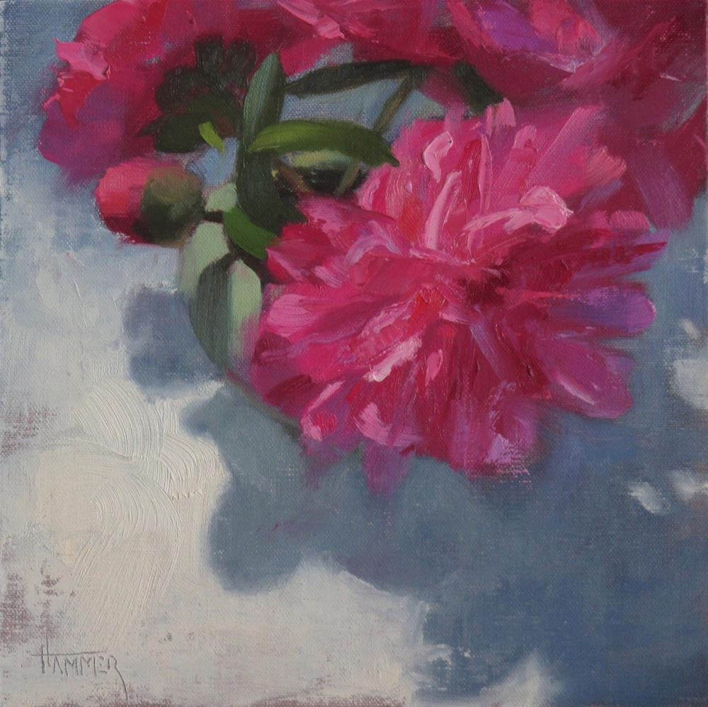 """Deep Pink Peonies"" original fine art by Claudia Hammer"