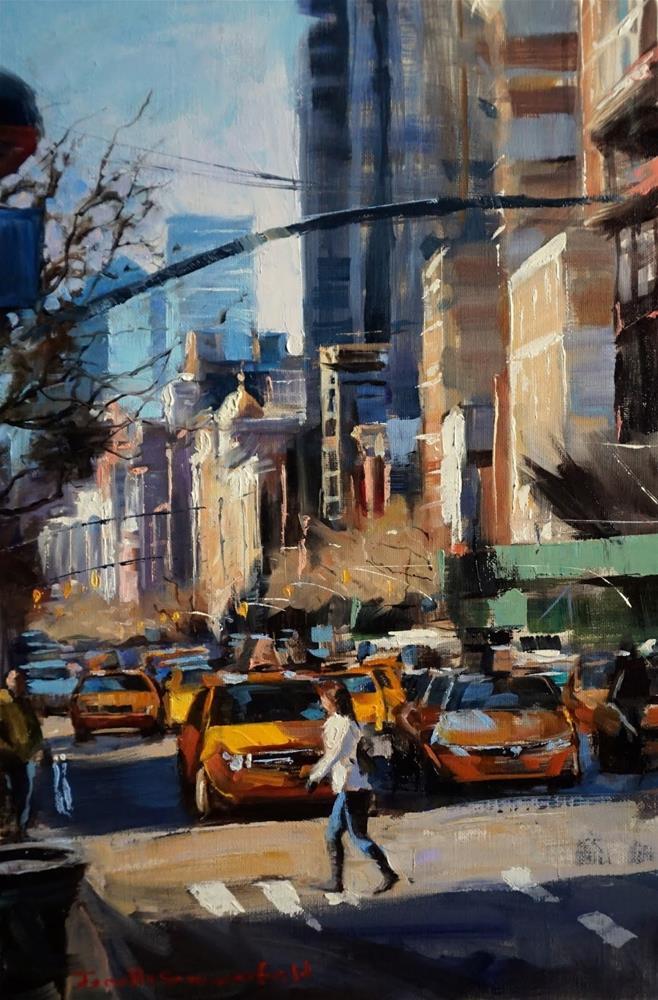 """""""New York Crosswalk"""" original fine art by Jonelle Summerfield"""