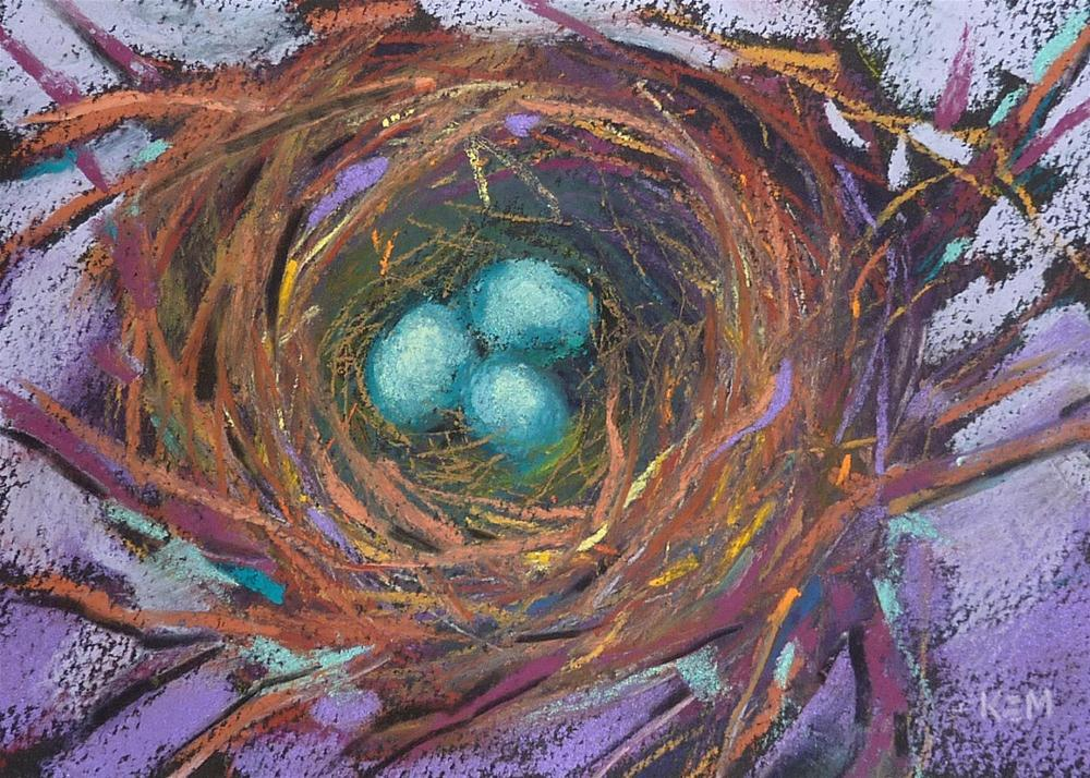 """Bird Nest in Jewel Tones"" original fine art by Karen Margulis"