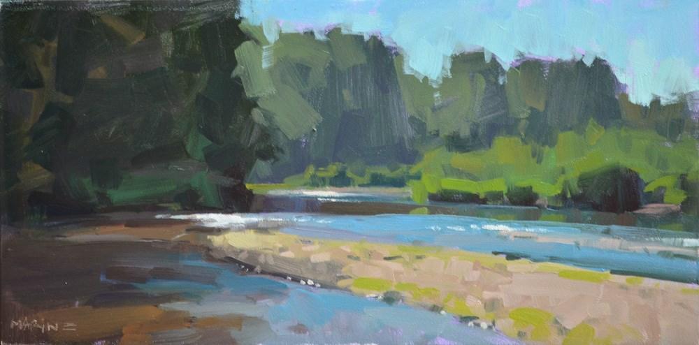 """""""Sparkling Water"""" original fine art by Carol Marine"""