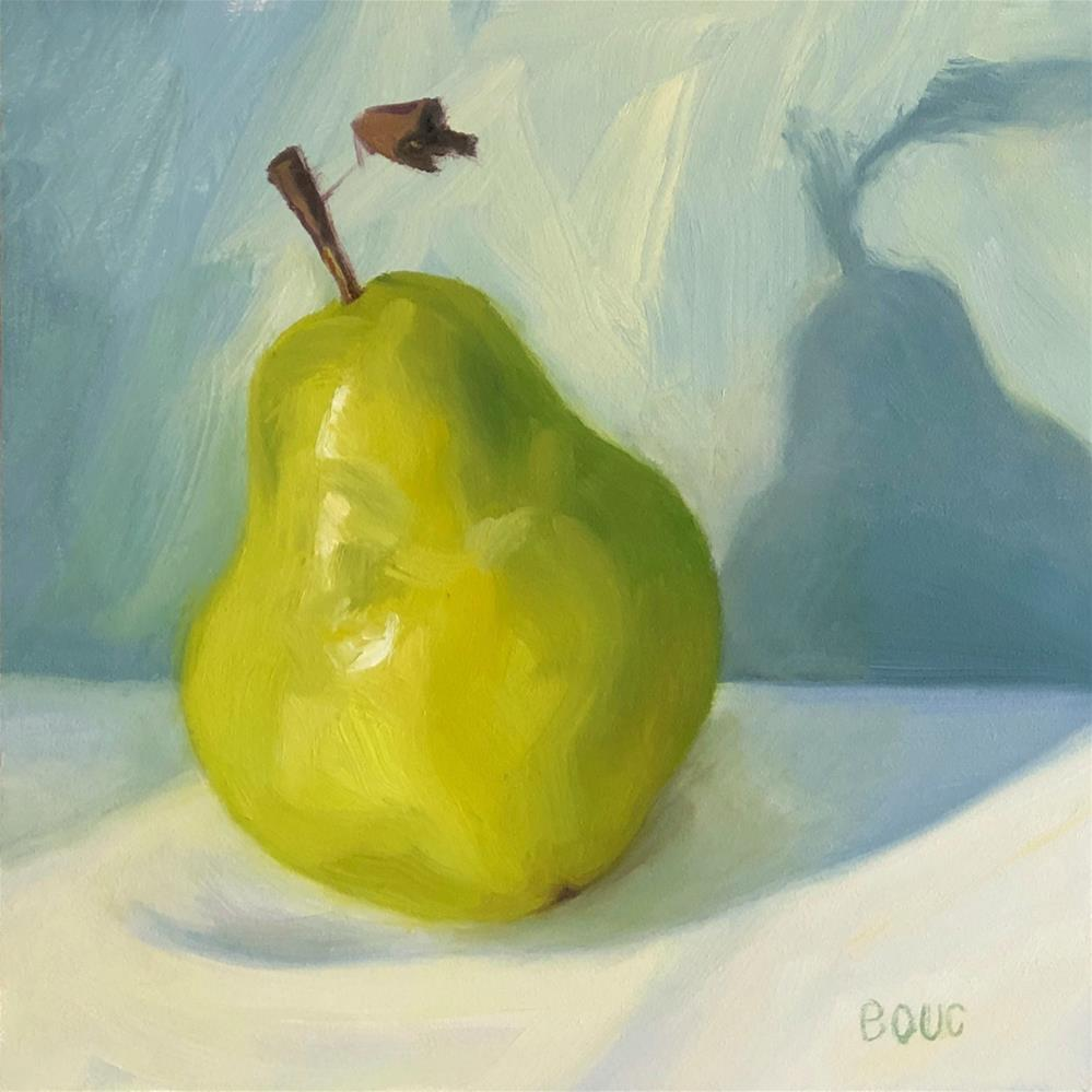 """Bonus Pear"" original fine art by Jana Bouc"