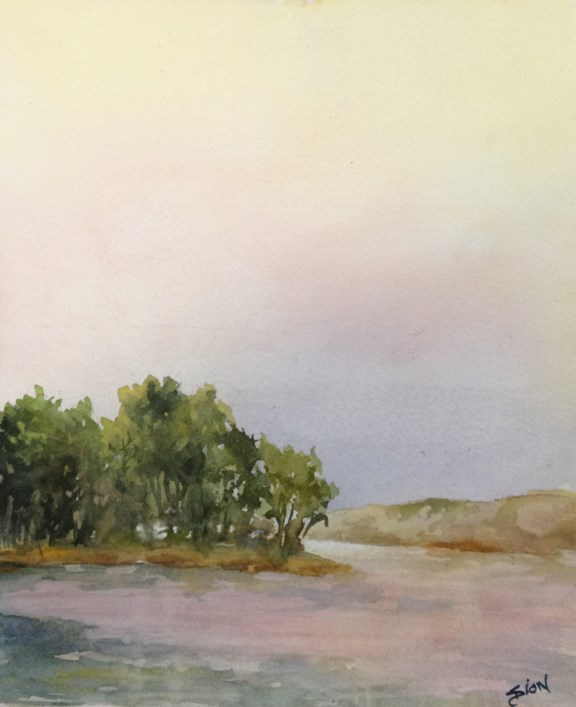 """Looking Through"" original fine art by Sue Dion"