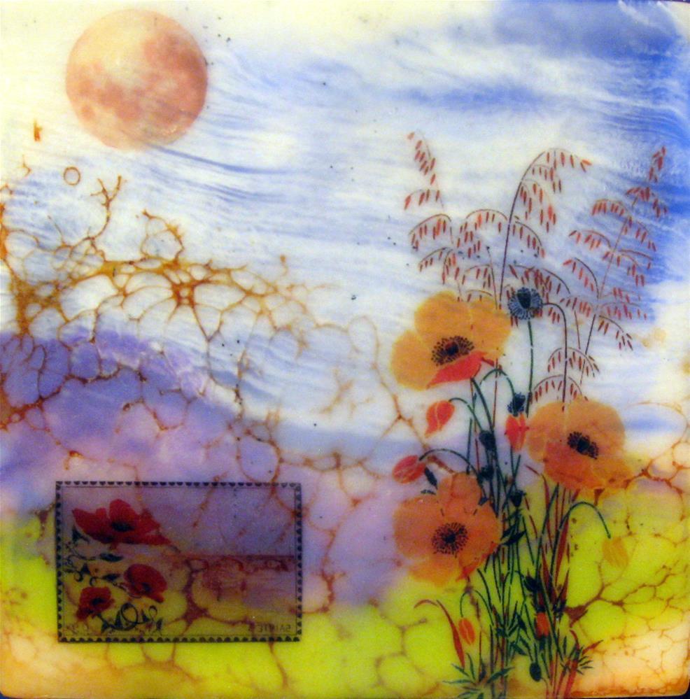 """Welcoming the Moon"" original fine art by Danielle M. Le  Bris"