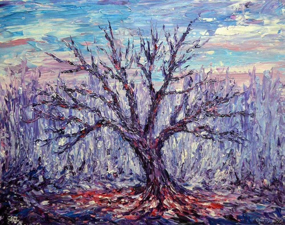 """""""SALE!!! Bare and Free"""" original fine art by Gloria Ester"""