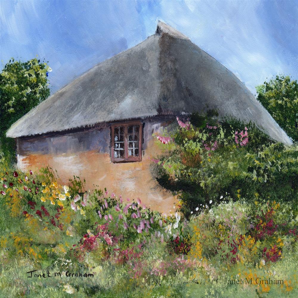"""""""Cottage Garden"""" original fine art by Janet Graham"""