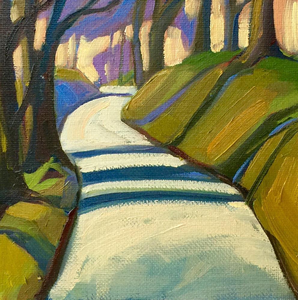 """""""Hartland Stripes in Green"""" original fine art by Meg McLean"""