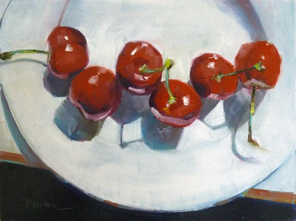 """Cheeries"" original fine art by Barbara Benedetti Newton"