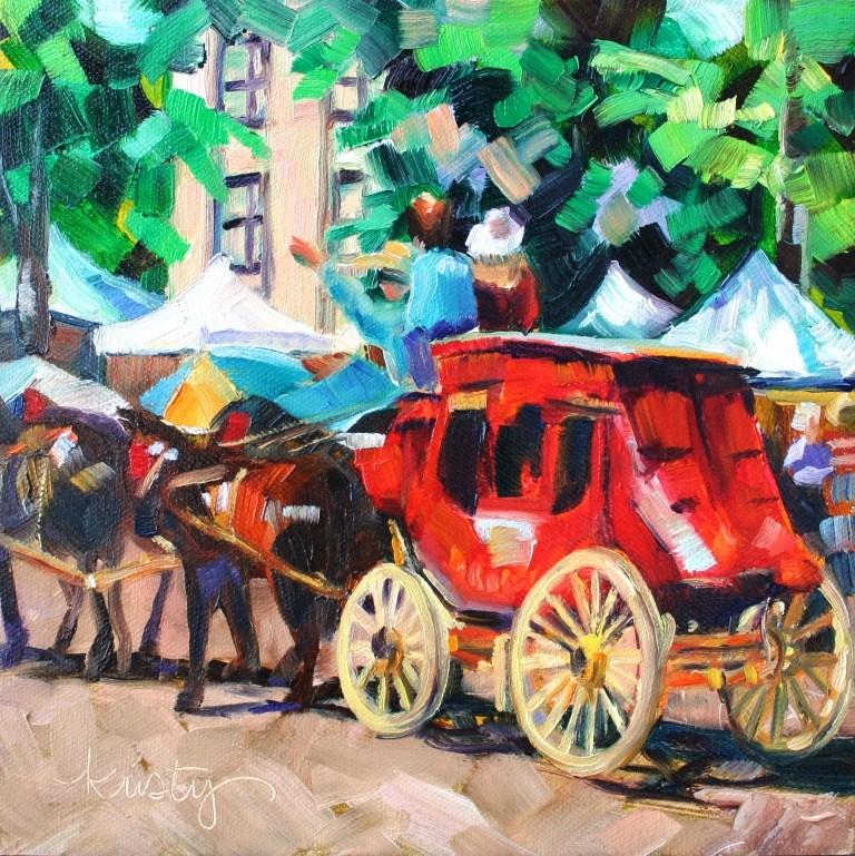 """STAGECOACH"" original fine art by Kristy Tracy"