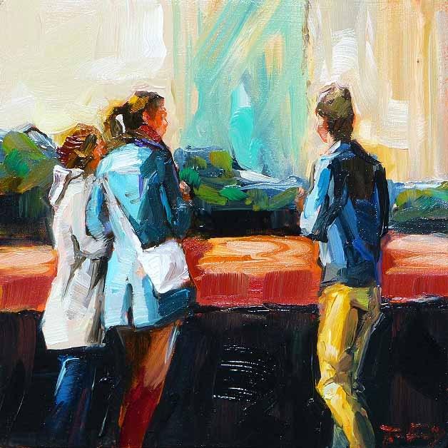 """Rendezvous"" original fine art by Jurij Frey"