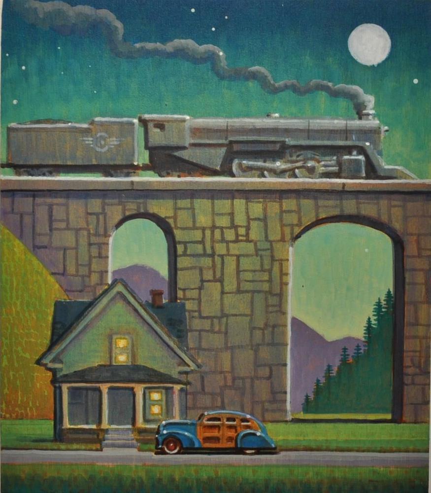 """""""Blue Moon"""" original fine art by Robert LaDuke"""