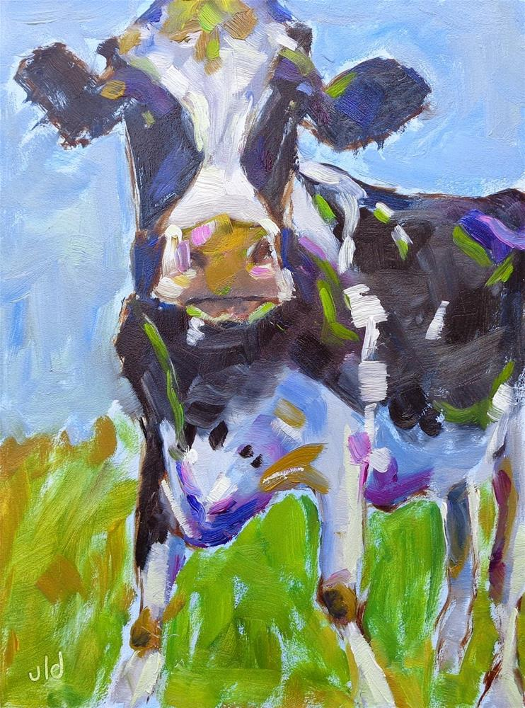 """Looking good"" original fine art by Jean Delaney"