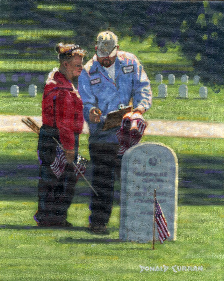"""""""Honoring Our Heroes"""" original fine art by Donald Curran"""