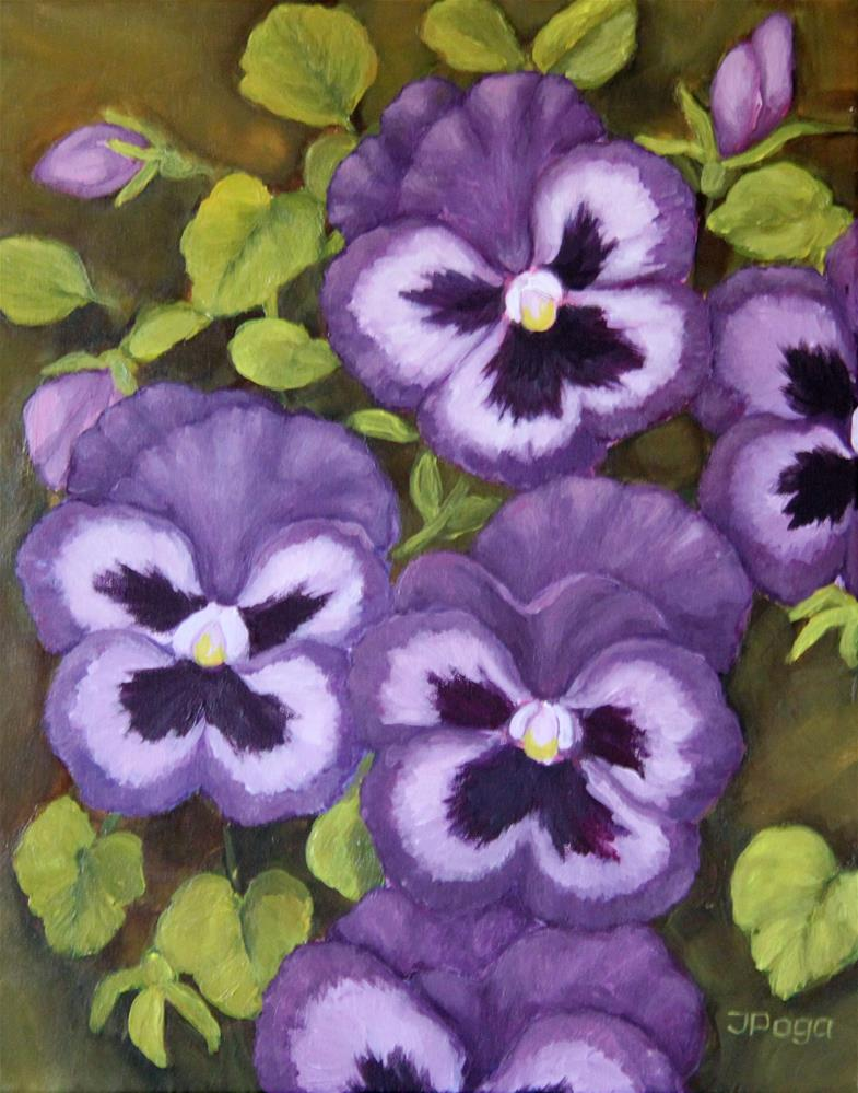 """Pansies, friendly faces"" original fine art by Inese Poga"