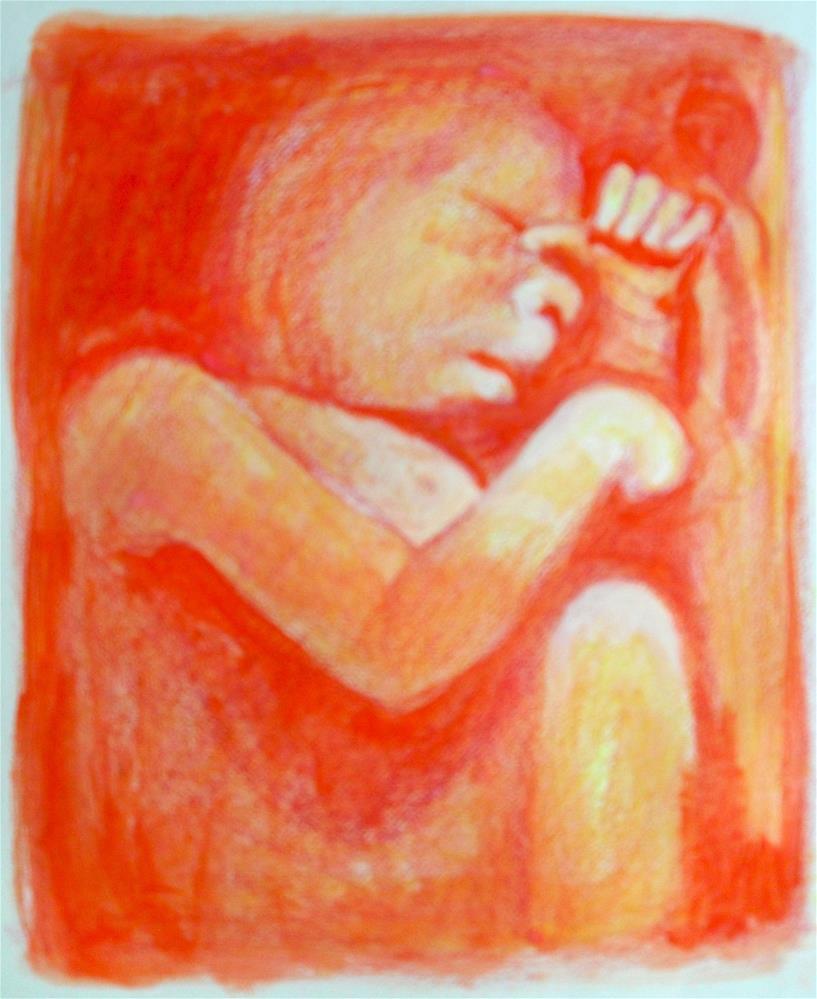 """""""Waiting Room"""" original fine art by Karen Roncari"""