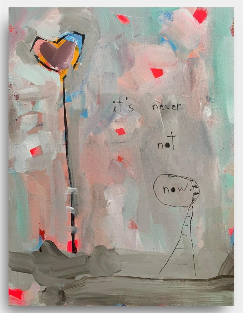 """876 It's Never Not Now"" original fine art by Jenny Doh"