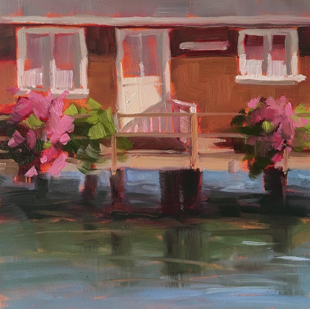 """Tides Inn"" original fine art by Deborah Newman"