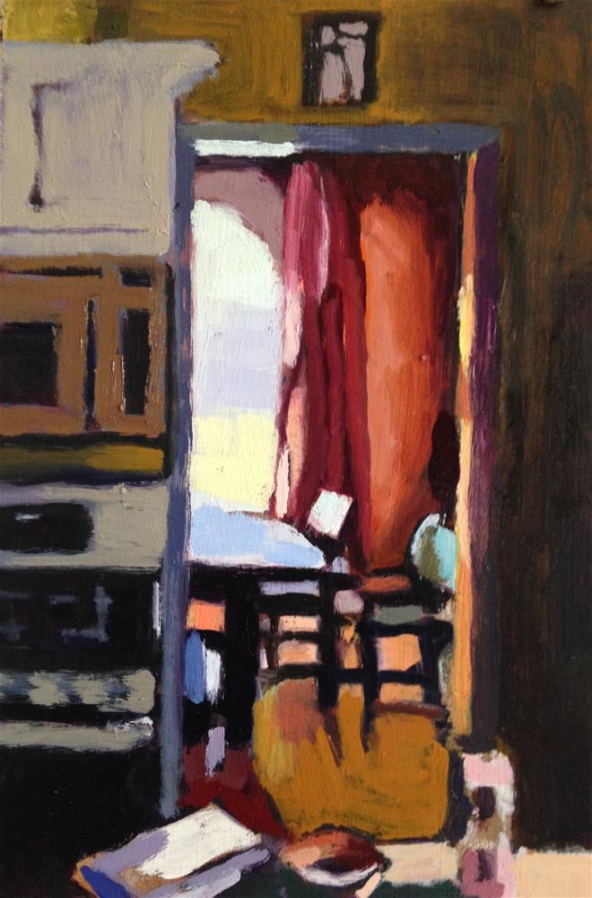 """""""From My Kitchen Into the Dining Room...Looking North"""" original fine art by Pamela Hoffmeister"""