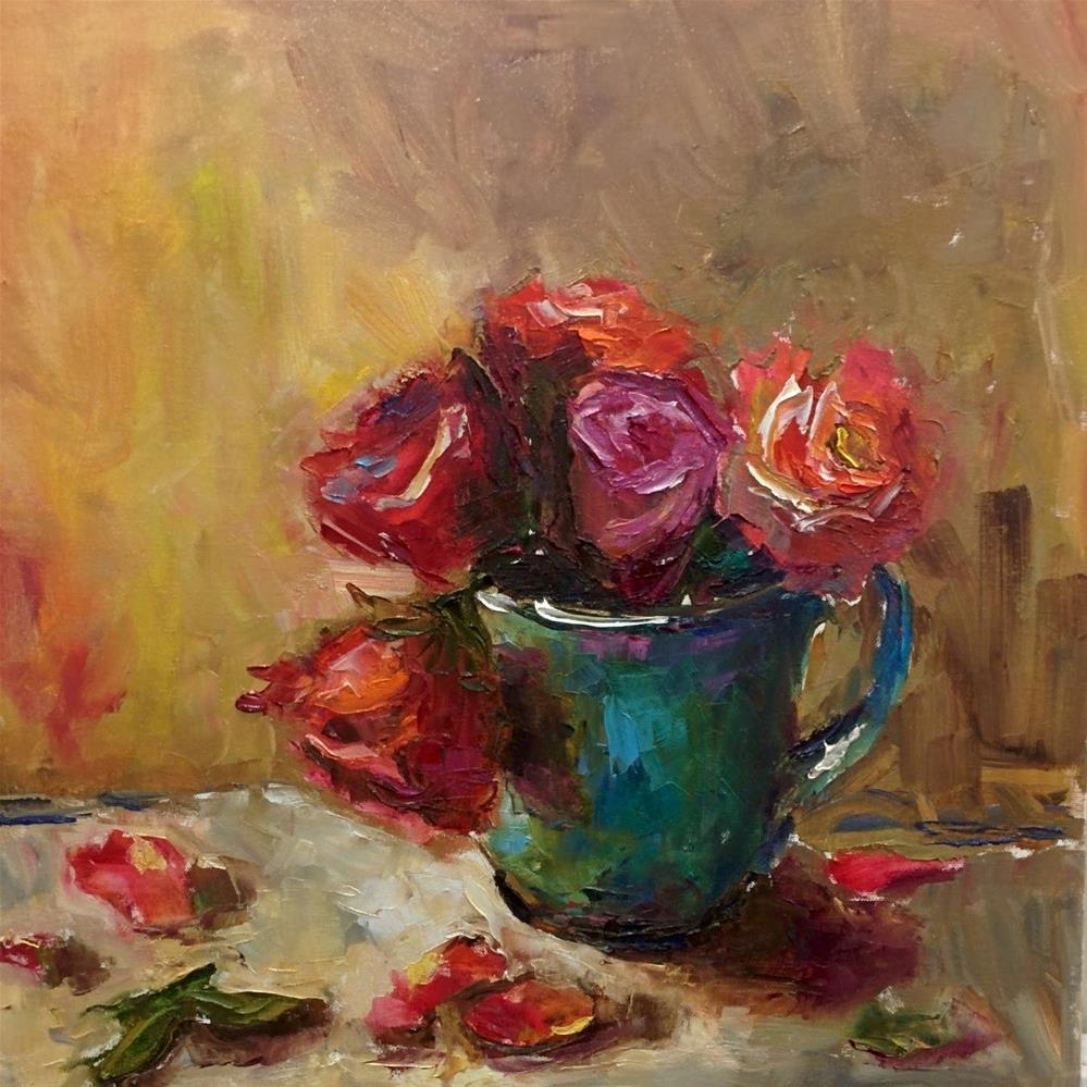 """About the Roses"" original fine art by pepa sand"
