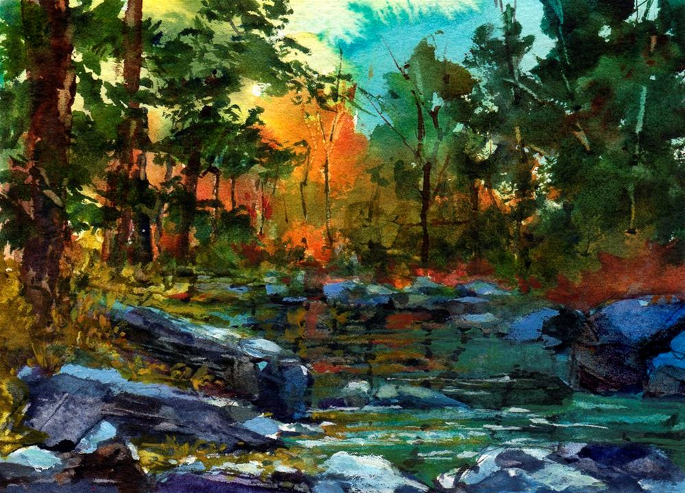 """Sunlight in Oak Creek Canyon"" original fine art by Linda Henry"